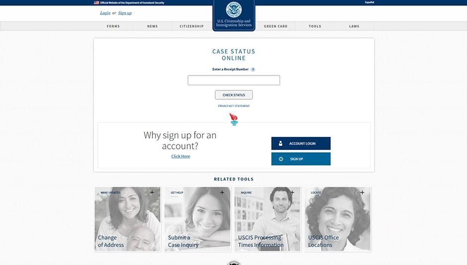Kiểm tra hồ sơ trên website của Sở Di Trú Mỹ (USCIS)